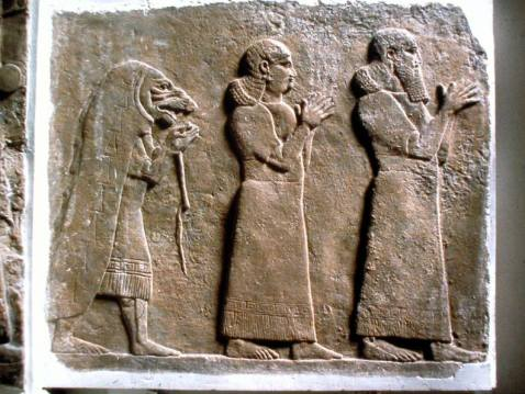Relieve neo Asirio, Nimrud..rettile